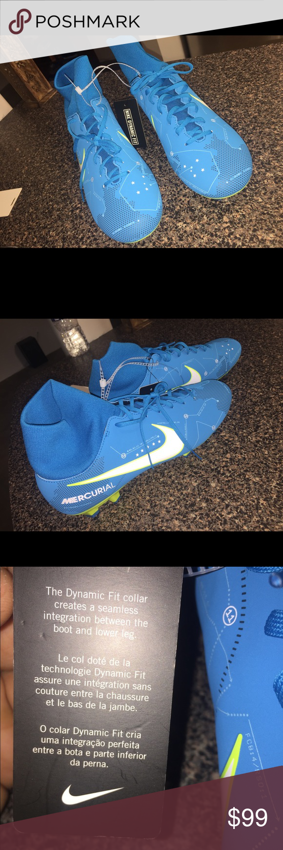8759ce470f7a Nike Mercurials Soccer Cleat New Sz 9 Hello 👋 these shoes are new without original  box We hope you enjoy