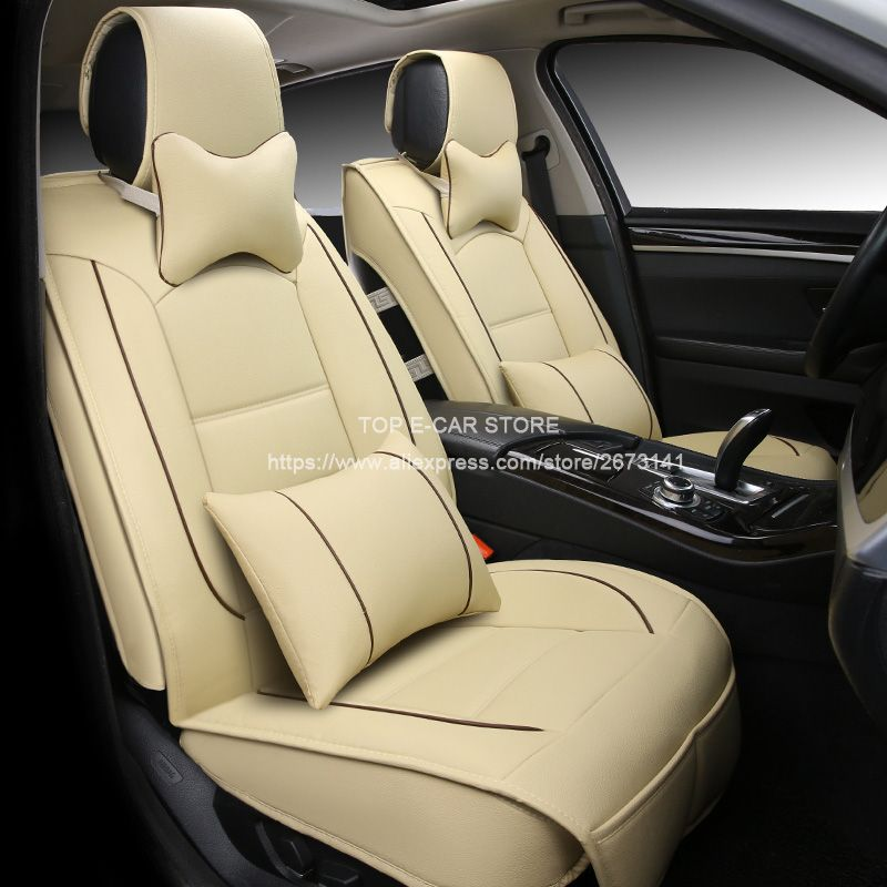 Luxury Leather Car Cushion Seat Covers Universal For TOYOTA Vitz Corolla Camry Rav4 Auris Prius Yaris Avensis Estima Styling Affiliate