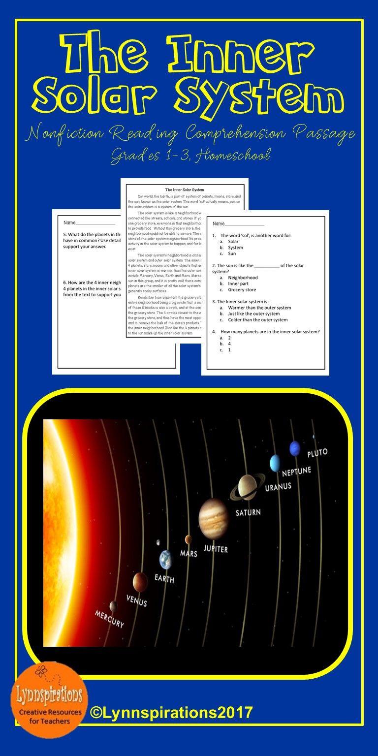 Inner Solar System Reading Comprehension Activity Reading Comprehension Activities Reading Comprehension Comprehension Activities [ 1536 x 768 Pixel ]