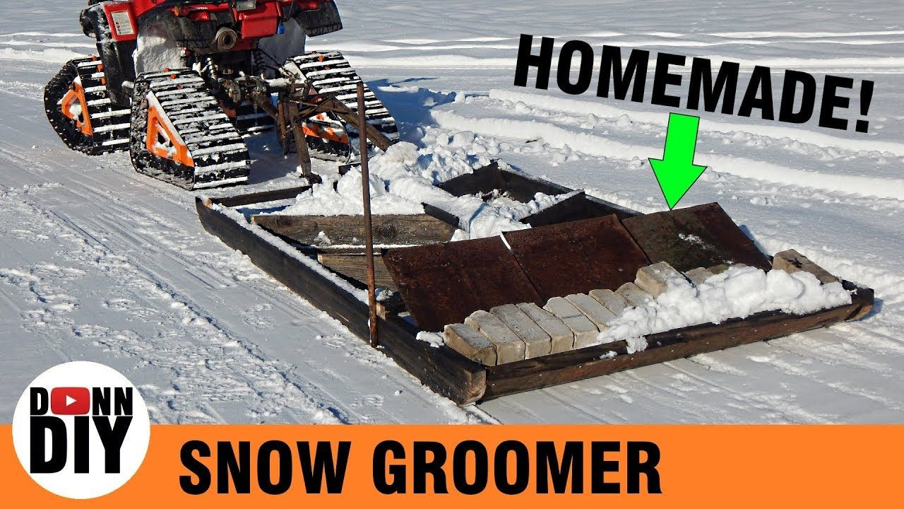 Homemade Ski Trail Groomer Youtube Ski Trails Groomer Skiing