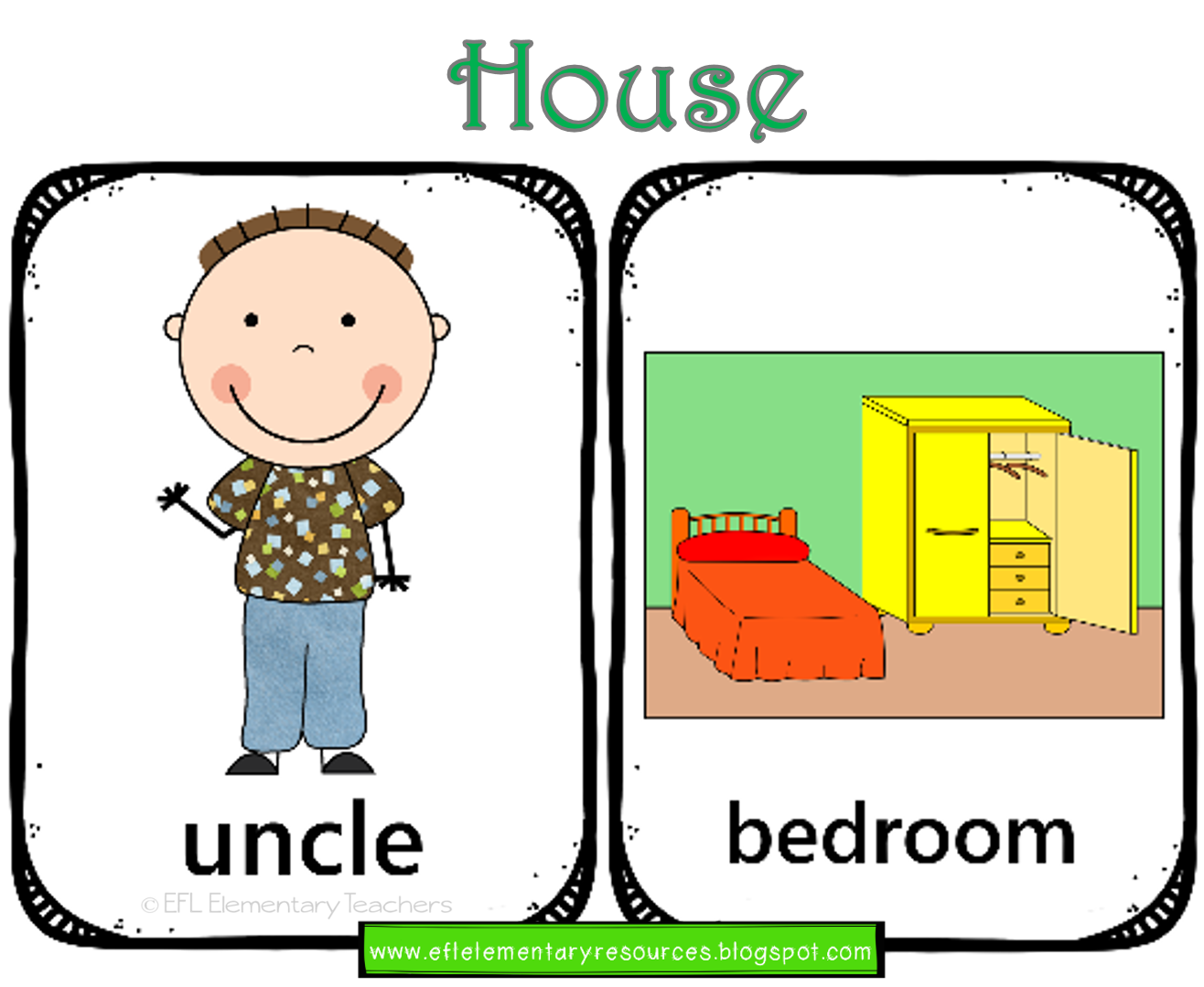 Eslhouse And The Family Flashcards Teacher Is Uncle Tom