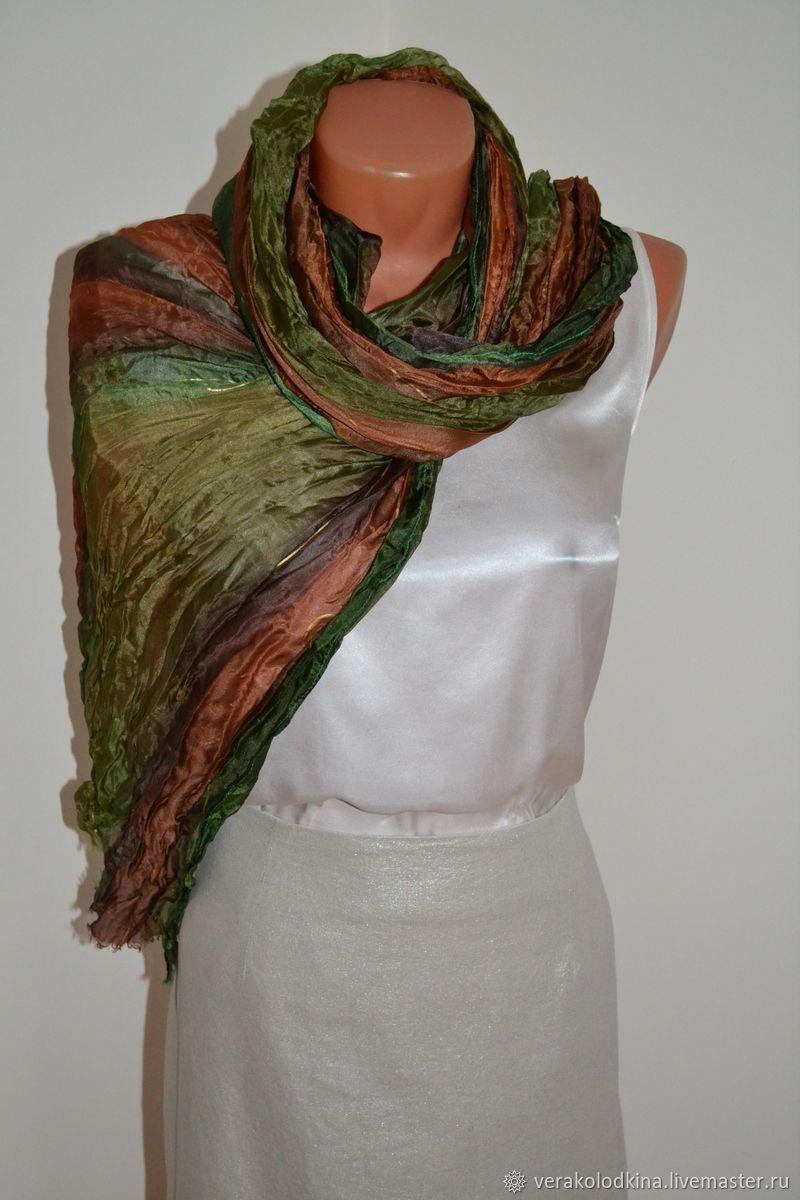 0597b056b41e Пин от пользователя Вера Колодкина на доске Hand painted silk scarf ...