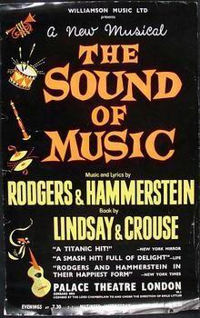 The Sound Of Music Original Theatre Poster Theatre Poster Sound Of Music Love Posters