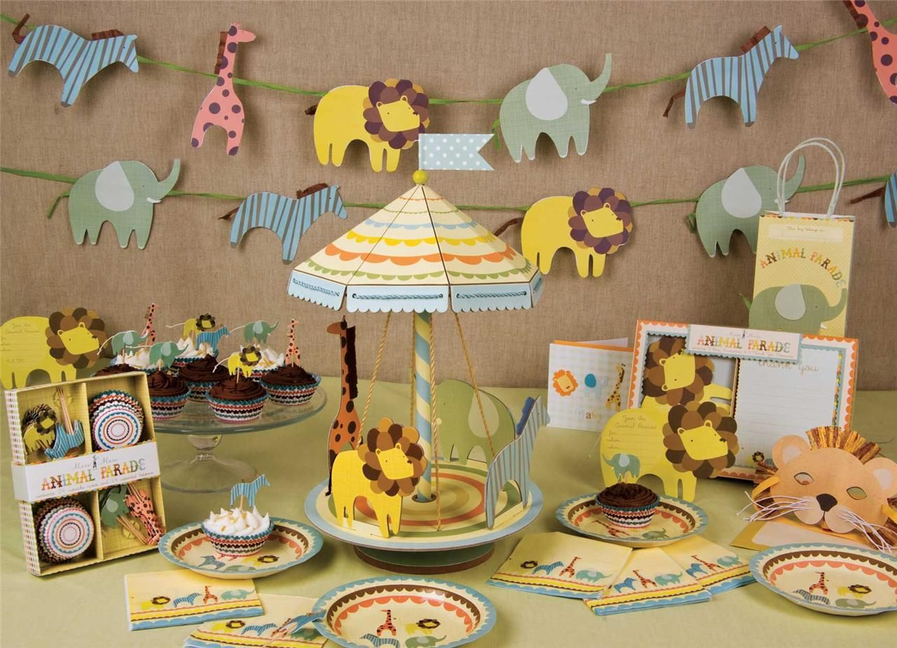 Wonderful Animal Party Theme Decorations Part - 1: Meri Meri ANIMAL PARADE PARTY PAPER CUPS Or CUPCAKE KIT Cake Cases