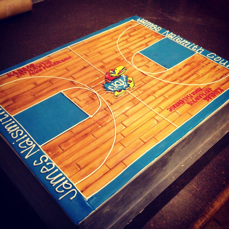 Miraculous Ku Basketball Court Grooms Cake Camis Cake Co In Eudora Ks Funny Birthday Cards Online Kookostrdamsfinfo