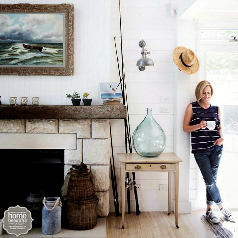 Photo of Relaxed Nautical Vintage Style Home of Designer Tara Dennis