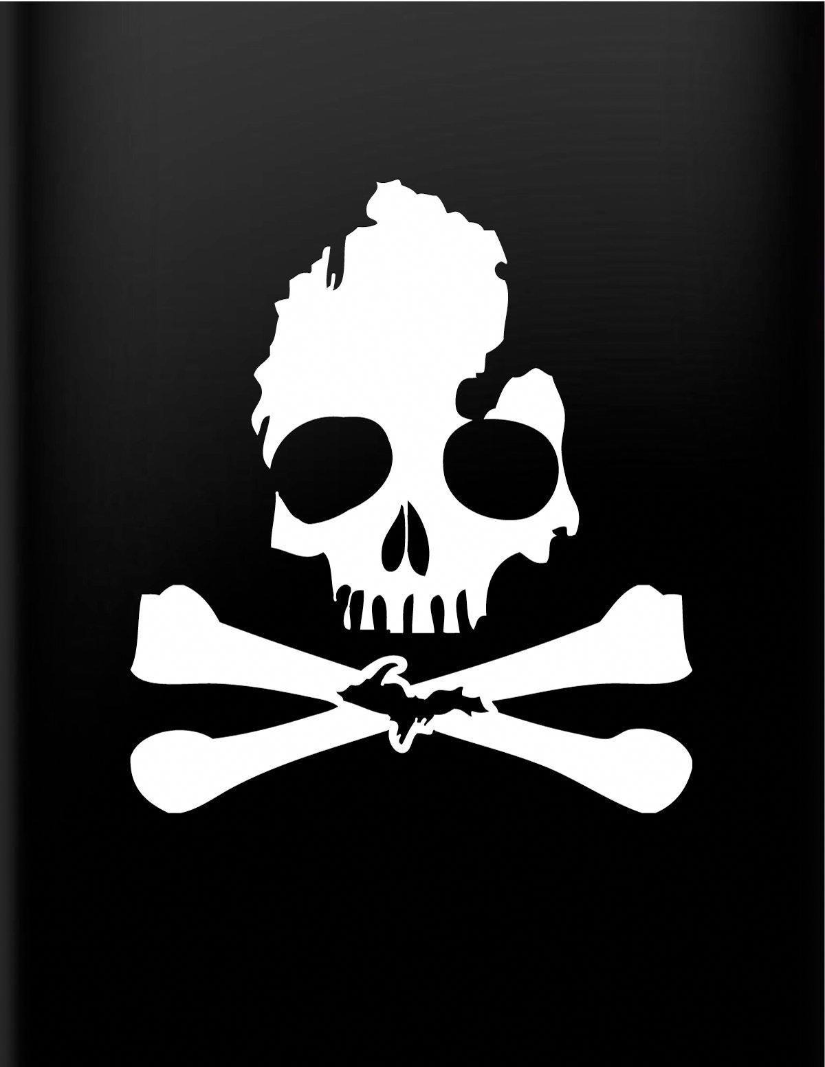 Michigan Skull Bones Decal Toyotaclassiccars Michigan Decal Skull Decal Vinyl Decals [ 1552 x 1200 Pixel ]