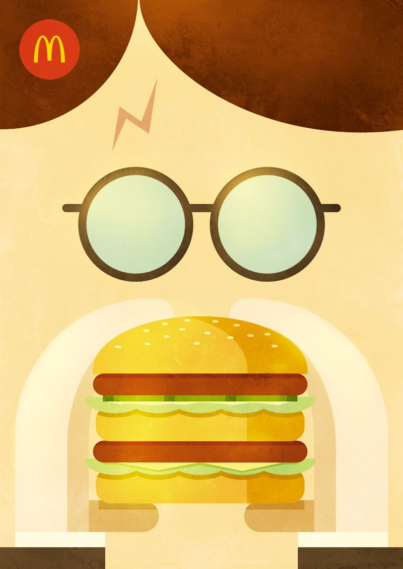 Illustration for mcdonalds advertising campaign dubai