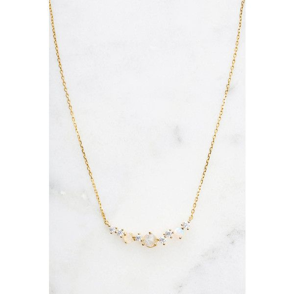 Tai Jewelry Baguette Cluster Necklace Gold Abx9e4h7Qt
