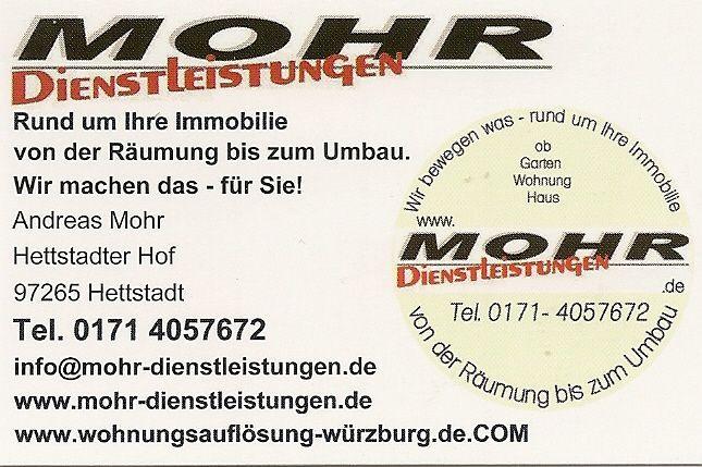 Wohnungsauflösungen Würzburg mohr dienstleistungen