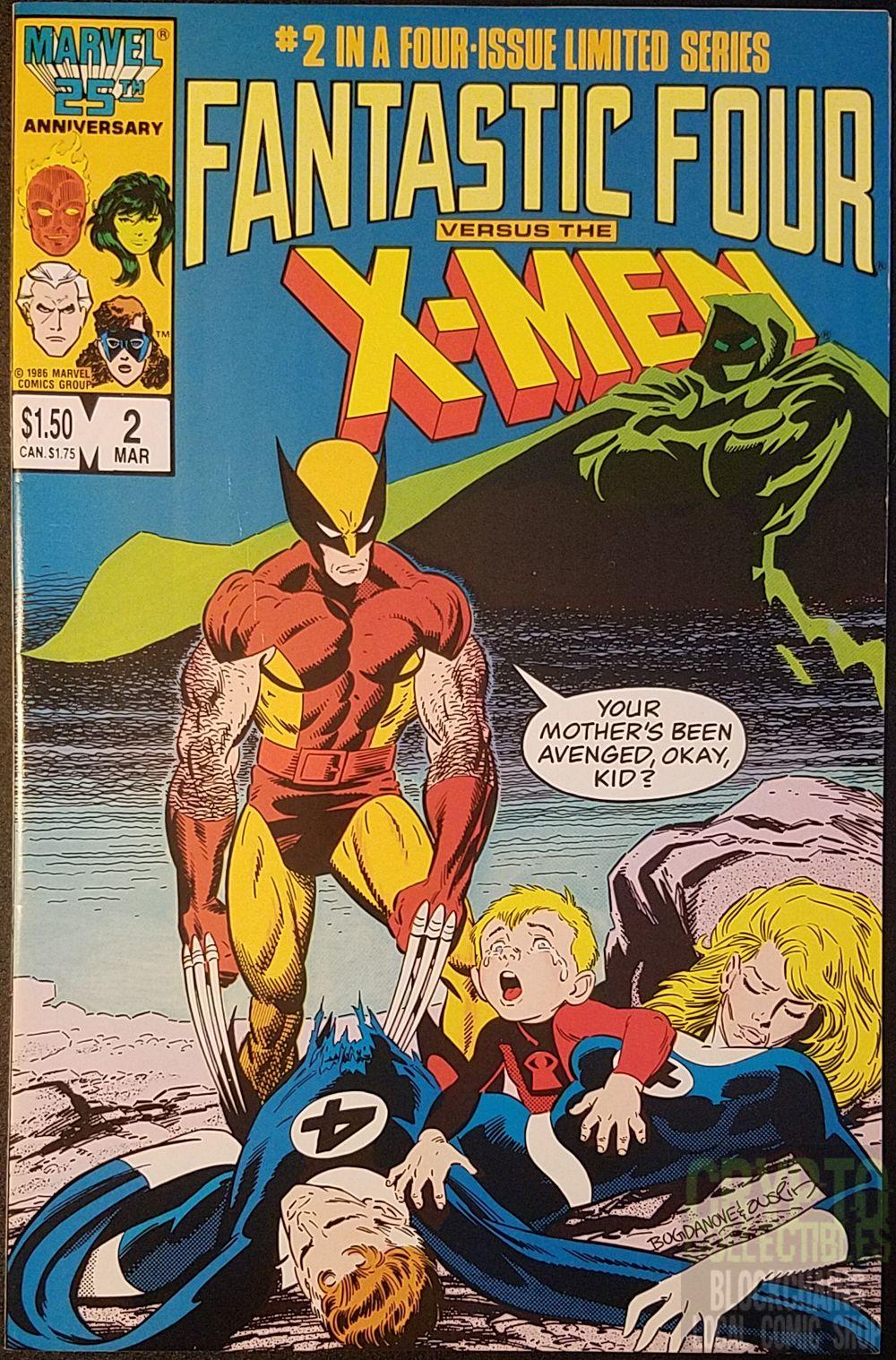 Fantastic Four Versus The X Men 2 By Chris Claremont Jonbogdanove And Terryaustin Fantasticfour Classic Comic Books Fantastic Four Comics Classic Comics