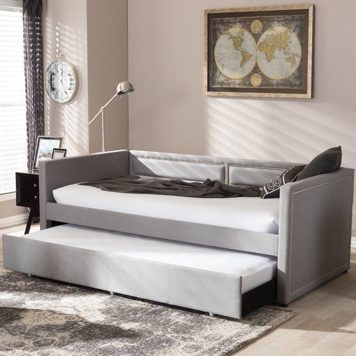 Glennis Twin Daybed with Trundle | Nailhead trim sofa ...