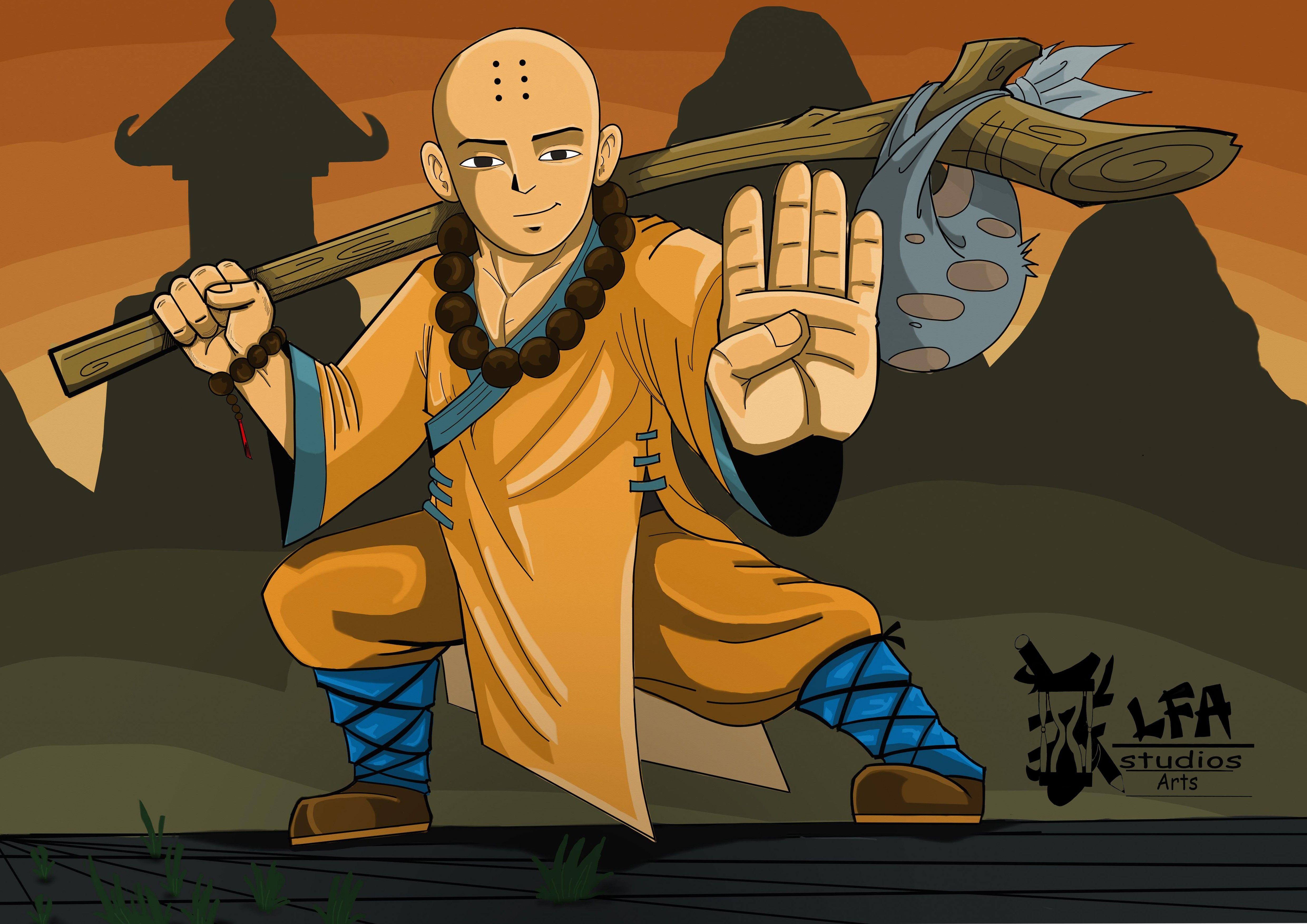 Monge Shaolin Desenho Digital