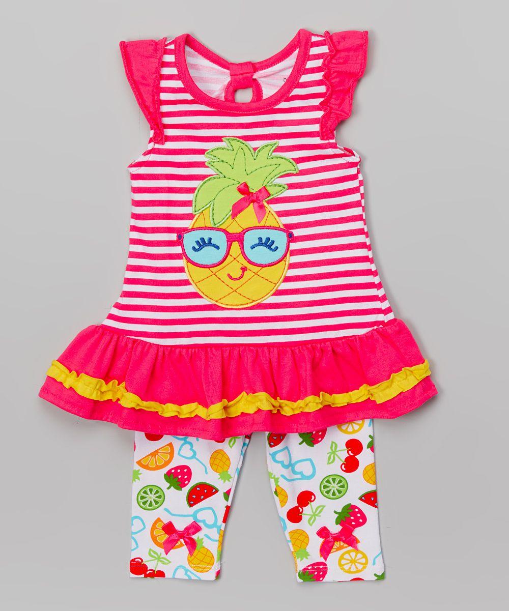 Pink Pineapple Tunic & Leggings - Infant, Toddler & Girls
