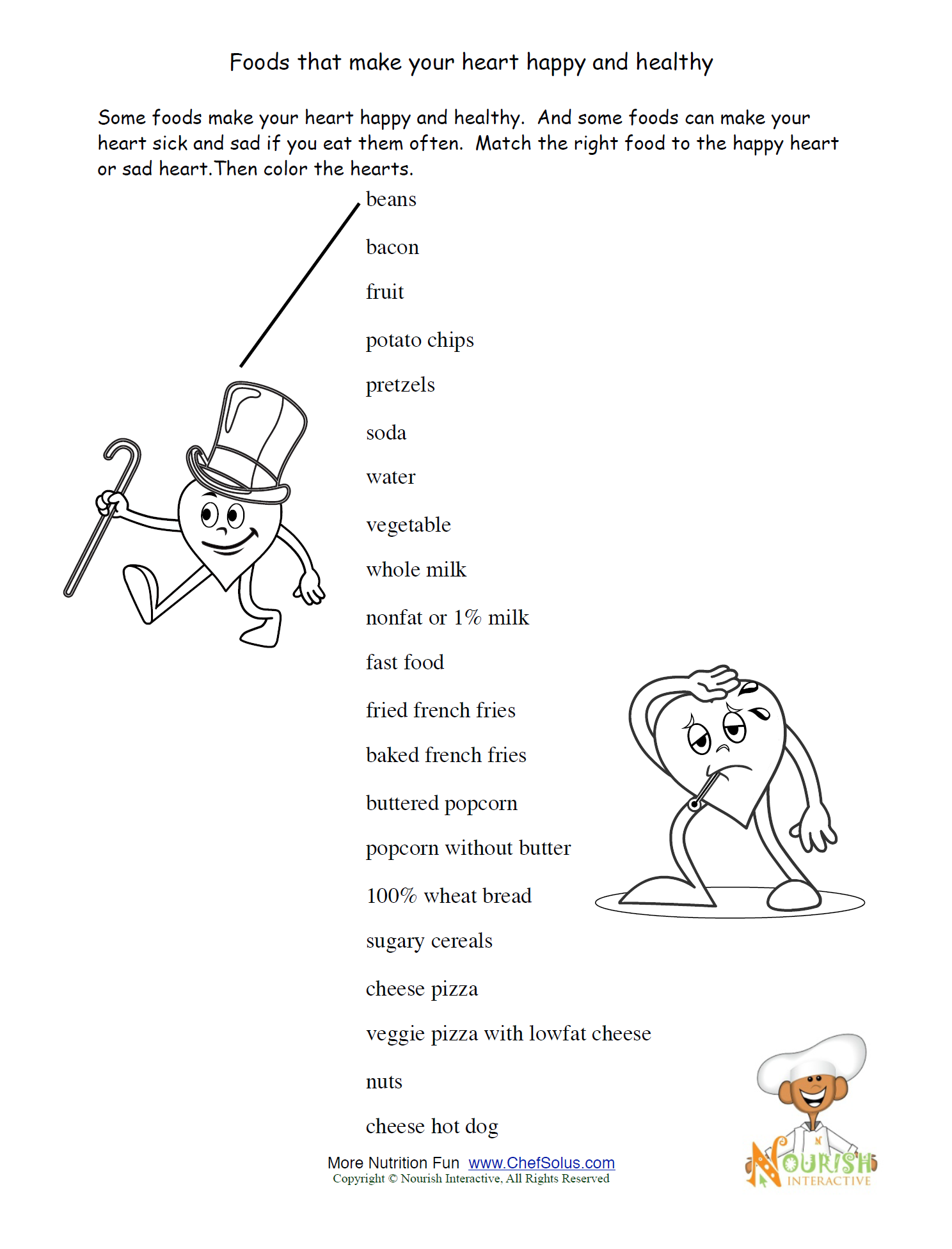 Worksheets Health Education Worksheets healthy heart please make sure to print the answer key as well our health worksheets promote foods and exercise that keep a childs along with some fun