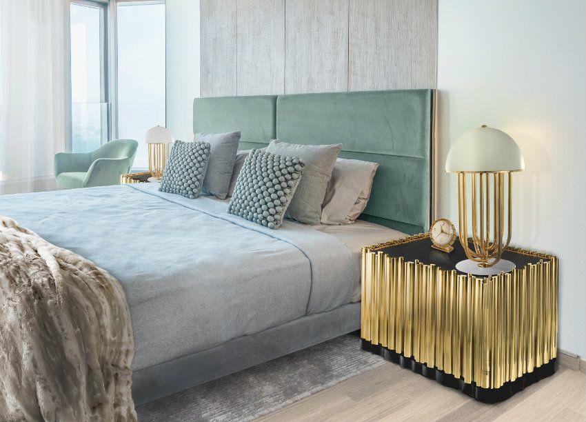 TOP 10 Luxusbetten Für Schlafzimmer | Blaue Und Gold Passen Schön Zusammen.  Ein Mehr Design Von Boca Do Lobo. Innenarchitektur Wohnzimmer Und  Schlafzimmer ...