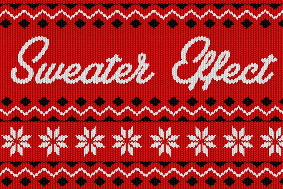 Christmas Sweater Effect text effects