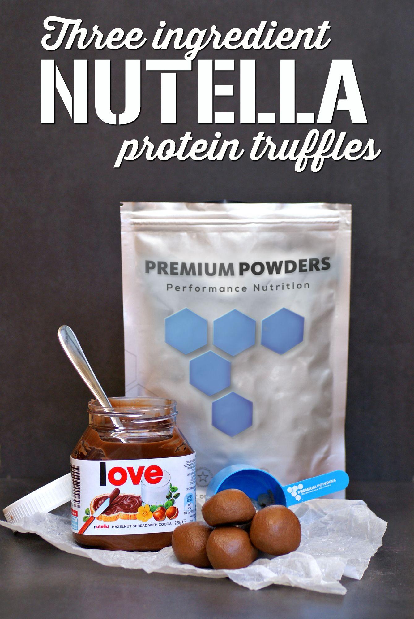 3 Ingredient Nutella Protein Truffles Recipe | NUTELLA