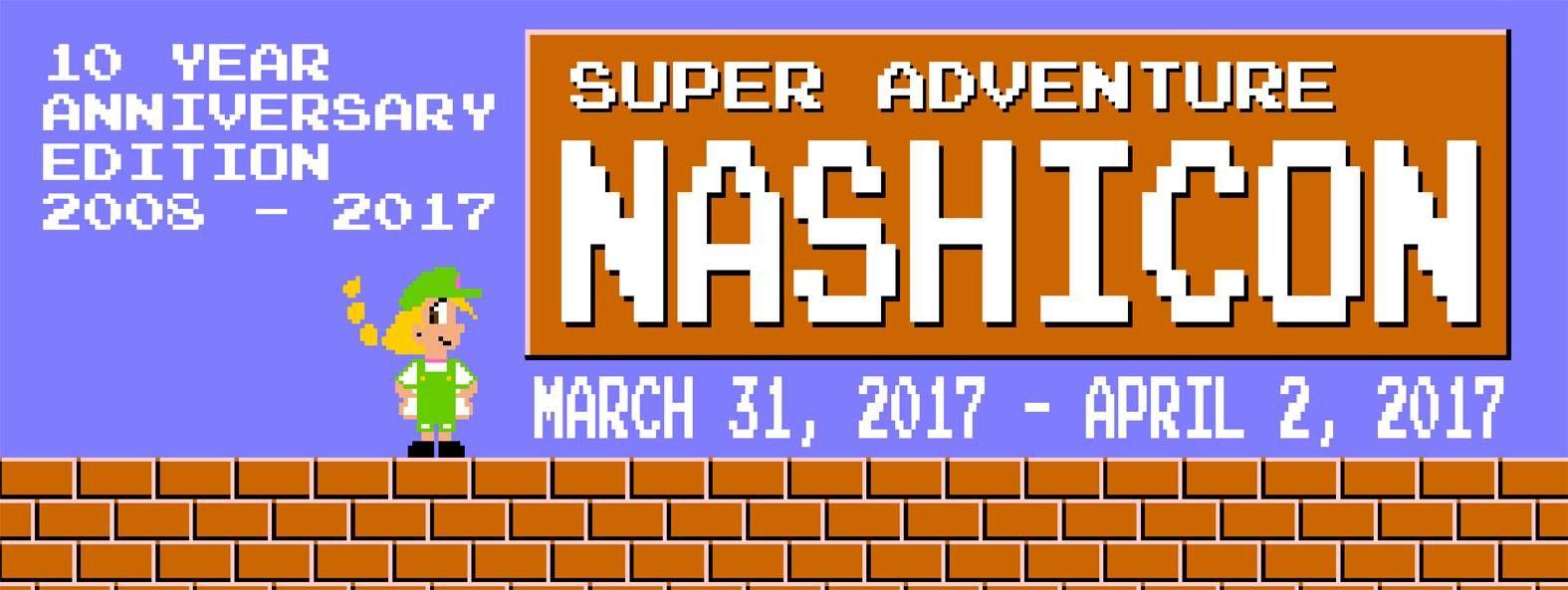 NashiCon 2017 - Columbia, SC, USA, March 31 - April 2, 2017