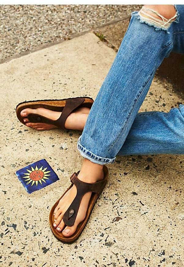 Gizeh Birkenstock | Birkenstock, Black leather sandals