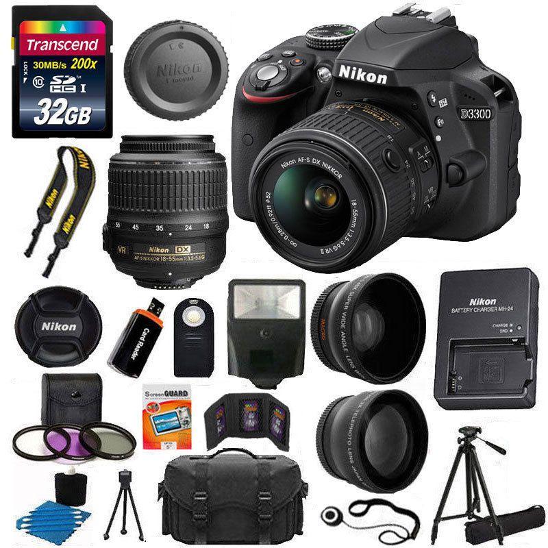 Nikon D3300 Digital Slr Camera 3 Lens 18 55 Vr Lens Kit 32gb More Top Value Best Digital Slr Camera Digital Slr Camera Best Digital Camera