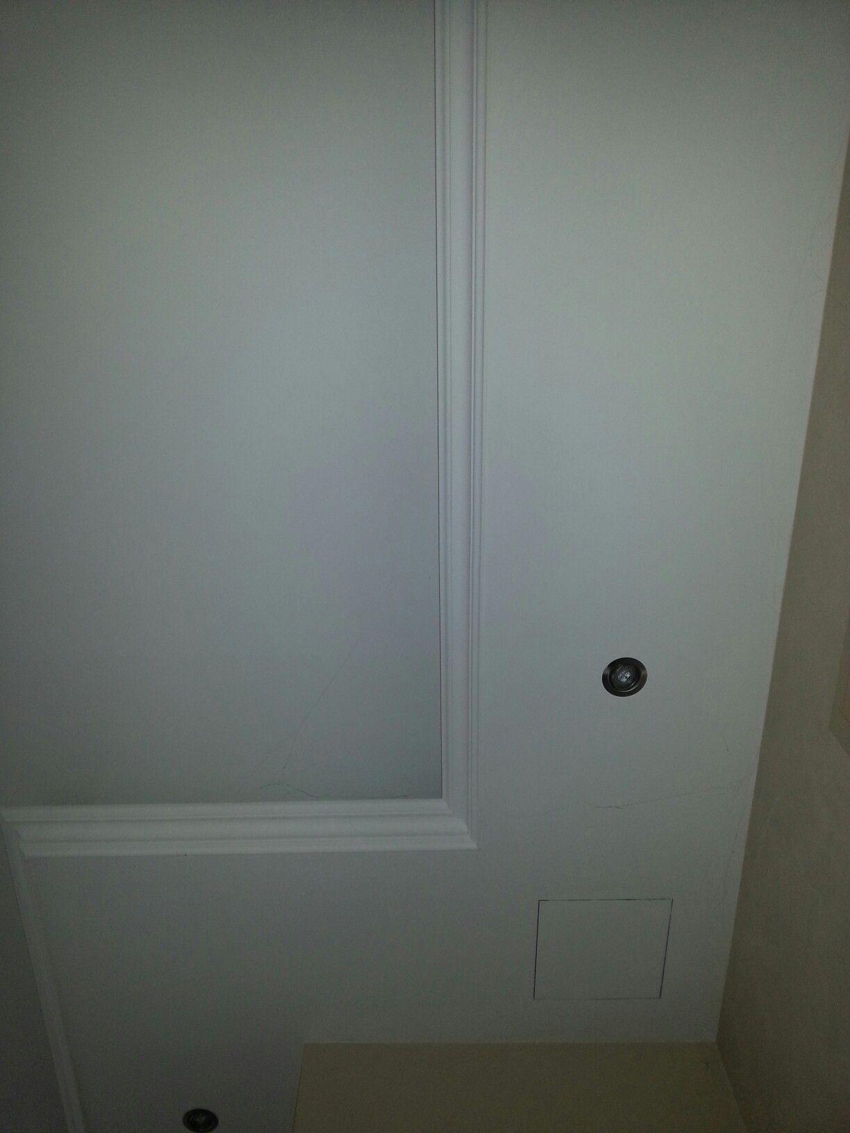 New abgeh ngte Decke im Wohnzimmer mit Beleuchtung