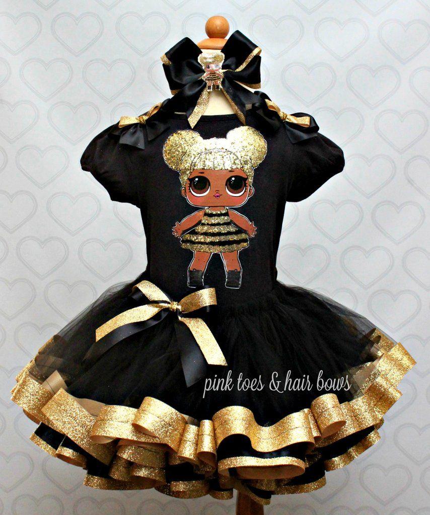 243aeccba9b65 Queen bee lol surprise doll tutu set-Queen bee lol surprise outfit ...