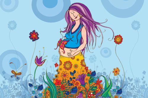Imagenes Flores Caricatura Buscar Con Google: Embarazo Dibujo - Buscar Con Google