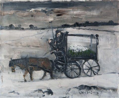 Leichenwagen In Winterlandschaft By Leopold Haefliger Misc