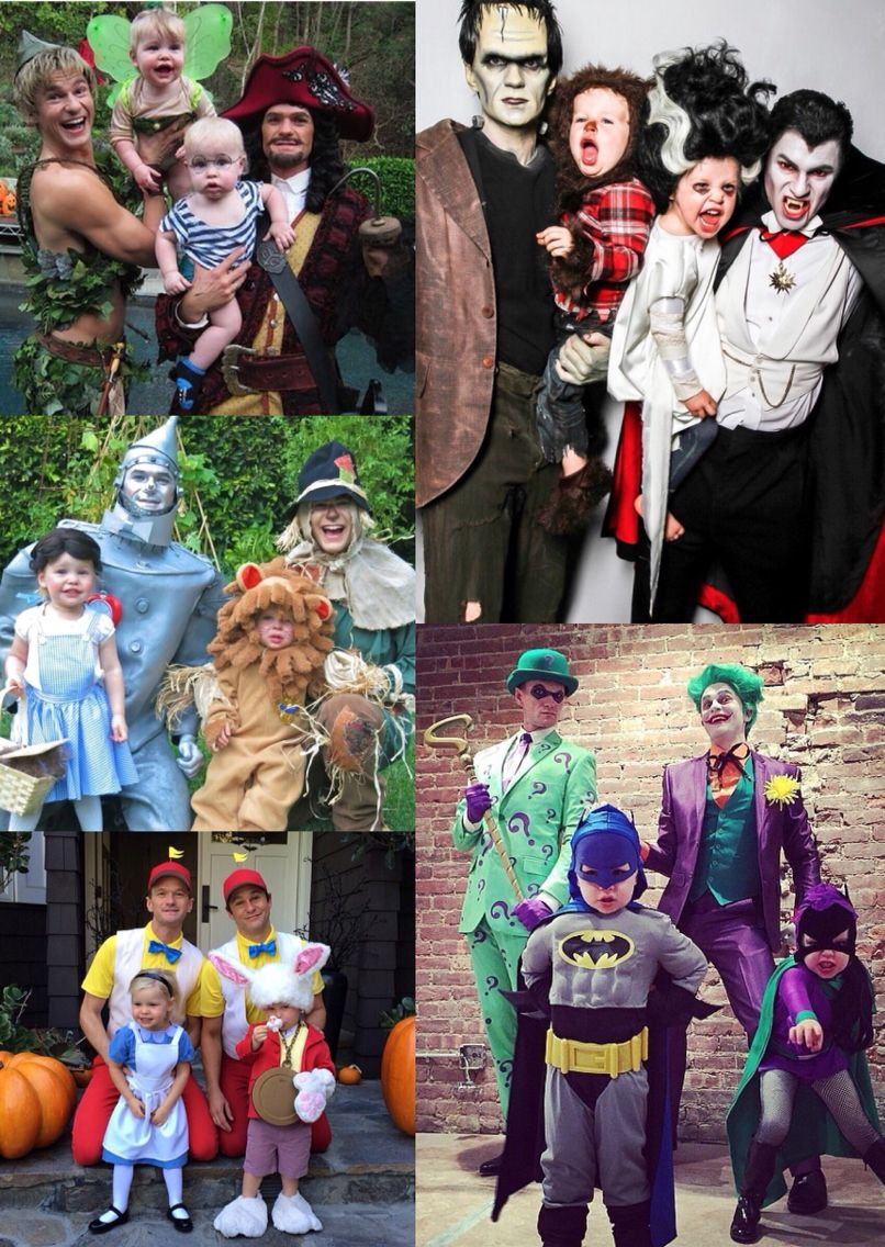 Neil Patrick Harris and David Burtka family Halloween