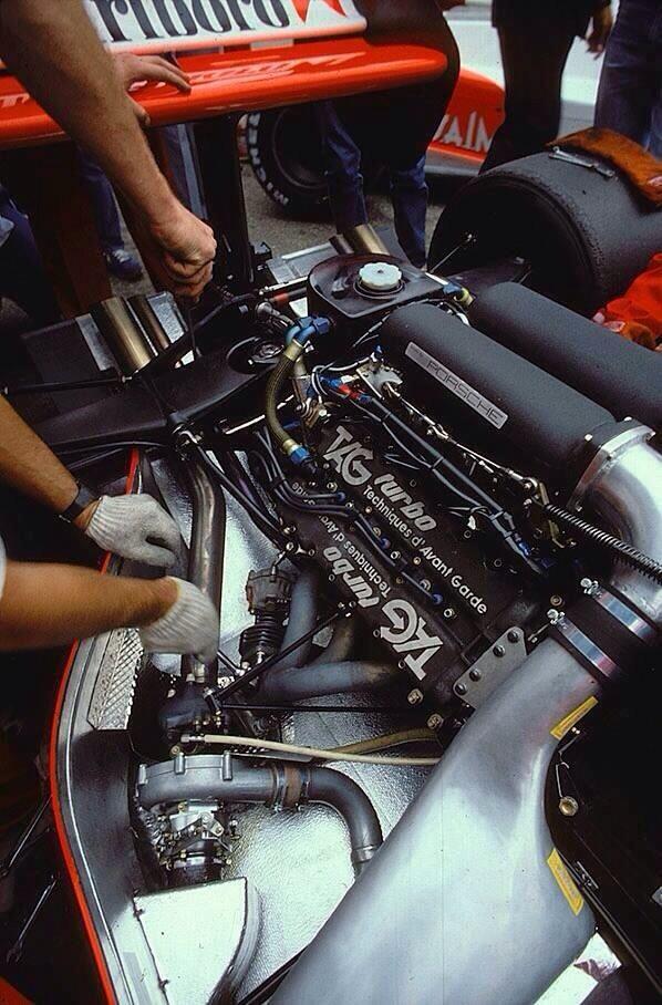 Marlboro McLaren: TAG Porsche turbo engine #f1 | Race cars ...
