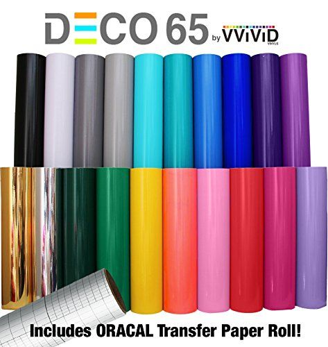 Vvivid Deco65 12 X 5ft Multi Color Adhesive Craft Vinyl Vinyl Signs Cricut Vinyl Vinyl Crafts