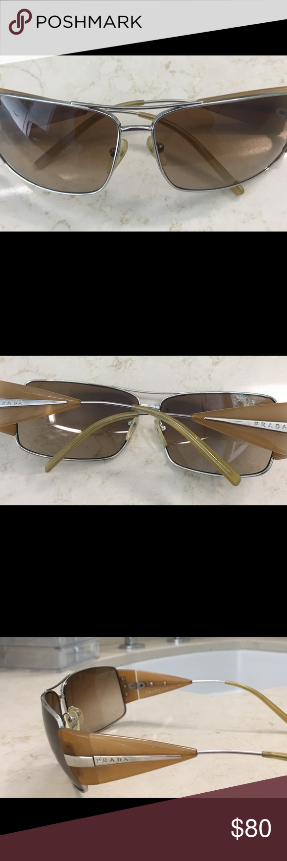3832e30c02 Prada sunglasses SPR 63 12 120 Authentic Prada Sunglasses SPR 55H 63 12 120