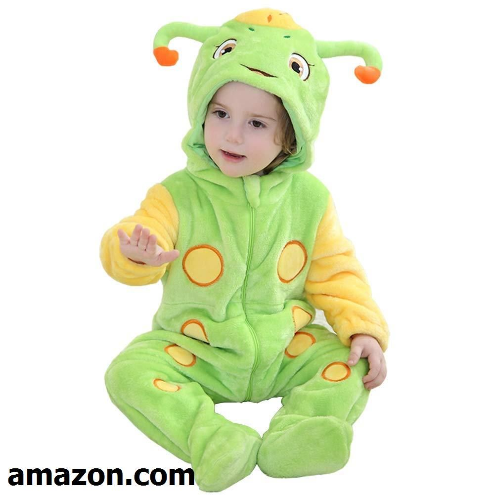 a71458d908e9 Kirmoo Baby Caterpillar Costume Halloween Cosplay Romper Animal ...