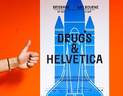 """다음 @Behance 프로젝트 확인: """"Sex, Drugs & Helvetica - Posters"""" https://www.behance.net/gallery/28336847/Sex-Drugs-Helvetica-Posters"""