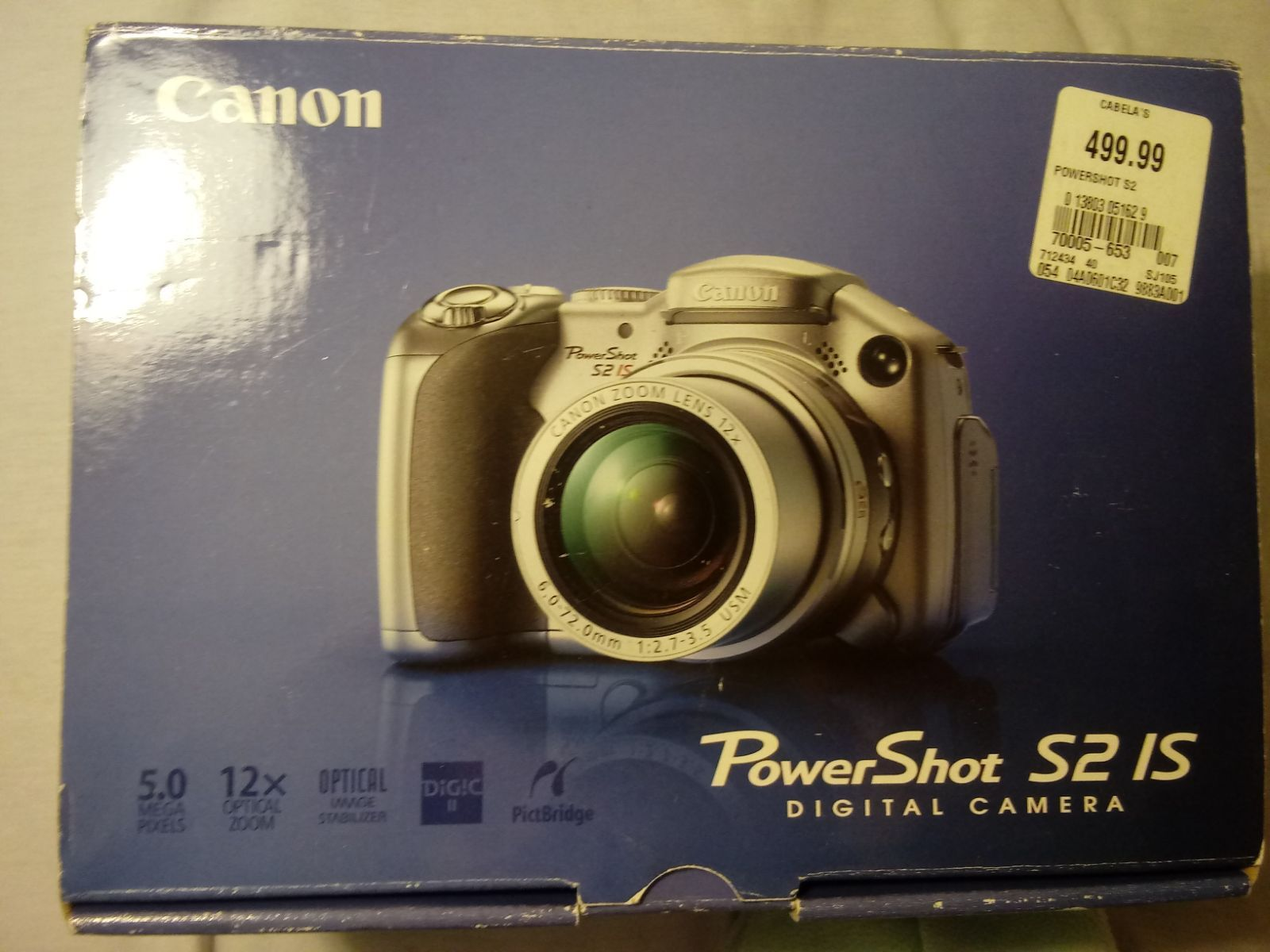 Canon Powershot S2 Is Digital Camera Comes With Manual And All Chords As Seen In Picture Good For Everyday Use Or As First Ca Camera Digital Camera Powershot