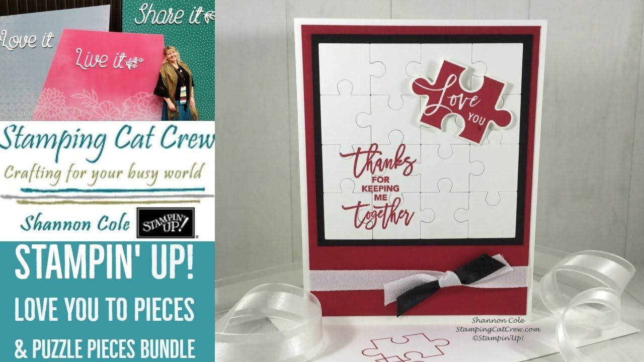 stampin up love you to pieces  puzzle pieces thinlets