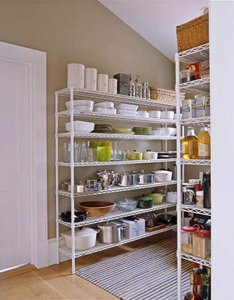 Image of the barefoot contessa39s wire shelf pantry home for Metal pantry shelving units