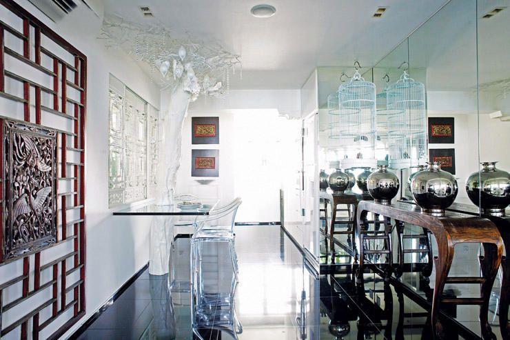 Modern oriental antique-furnished three-room HDB flat | Oriental ...