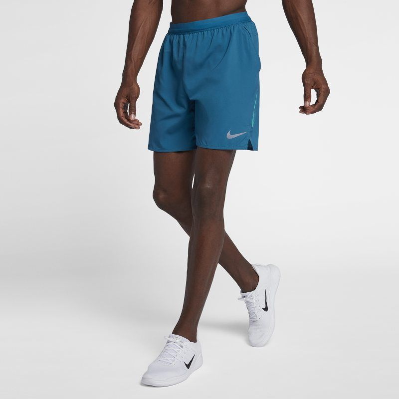 Nike Fit Dry Mens Lined Athletic Running Shorts Navy Blue Vented Fitness New