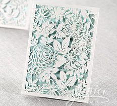 Magical White Floral Lacer Cut Folded Wedding Card