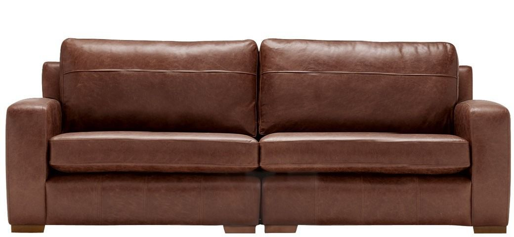 Mezzo 4 Seater Leather Sofa Saddle