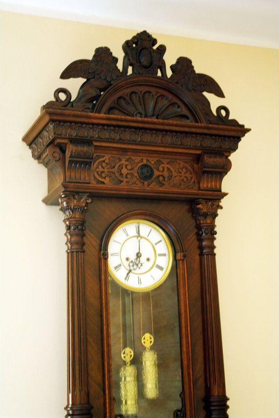 Real Rarity Gustav Becker 2 Weights Wall Clock By Decomatt Zl9000 00 In 2020 Clock Wall Antique Clocks