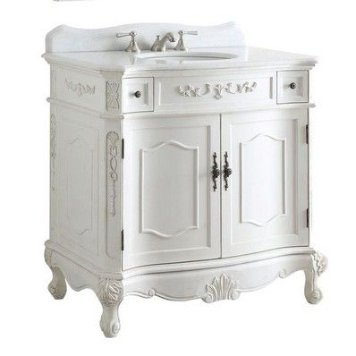 Chans Oriental Fairmont 36 Antique Single Sink Bathroom Vanity In White Nlbc3905waw36 At Discountbathroomvanities Com Banyo Dolabi Banyo Dolaplar