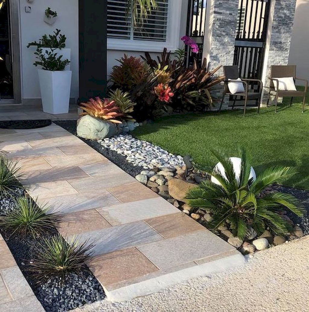 Beautiful Low Maintenance Front Yard Garden And