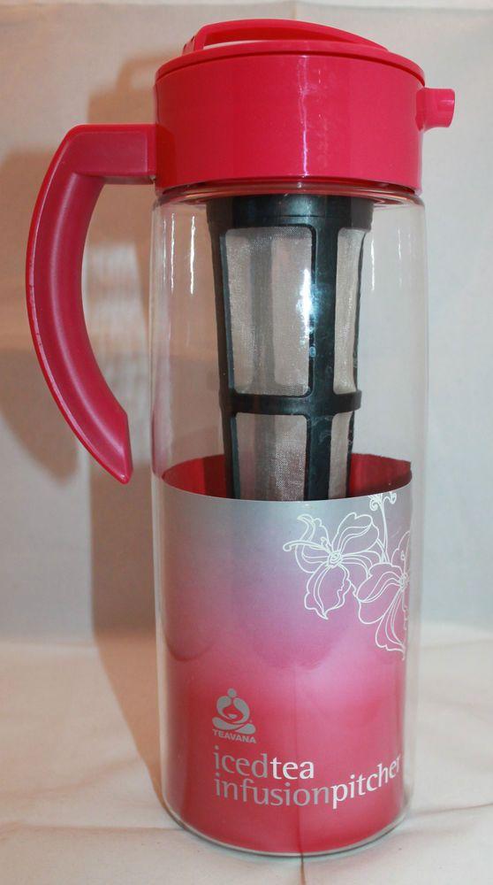 New Teavana Iced Tea Infusion Pitcher Berry Color 2 Quarts 189 Liter Takeya