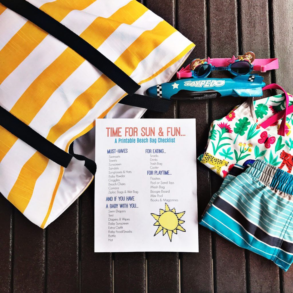 Printable Beach Bag Checklist With Images