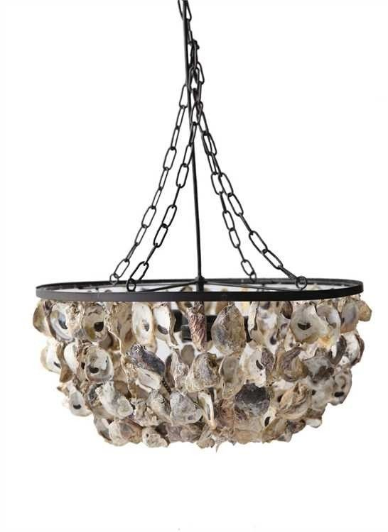 """20"""" Round Oyster Shell Pendant Chandelier - Barn Creations 20"""" Round Oyster Shell Pendant Chandelier - DA5-X-899SKU: DA5-X-899Manufacturer: Barn CreationsProduct Type: LightingShip By Truck: YesCubic Feet: 0/1/3.662"""