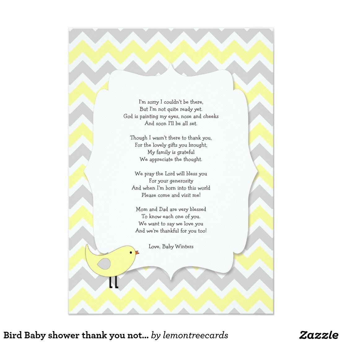 Create Your Own Invitation Zazzle Com Bird Baby Shower Baby