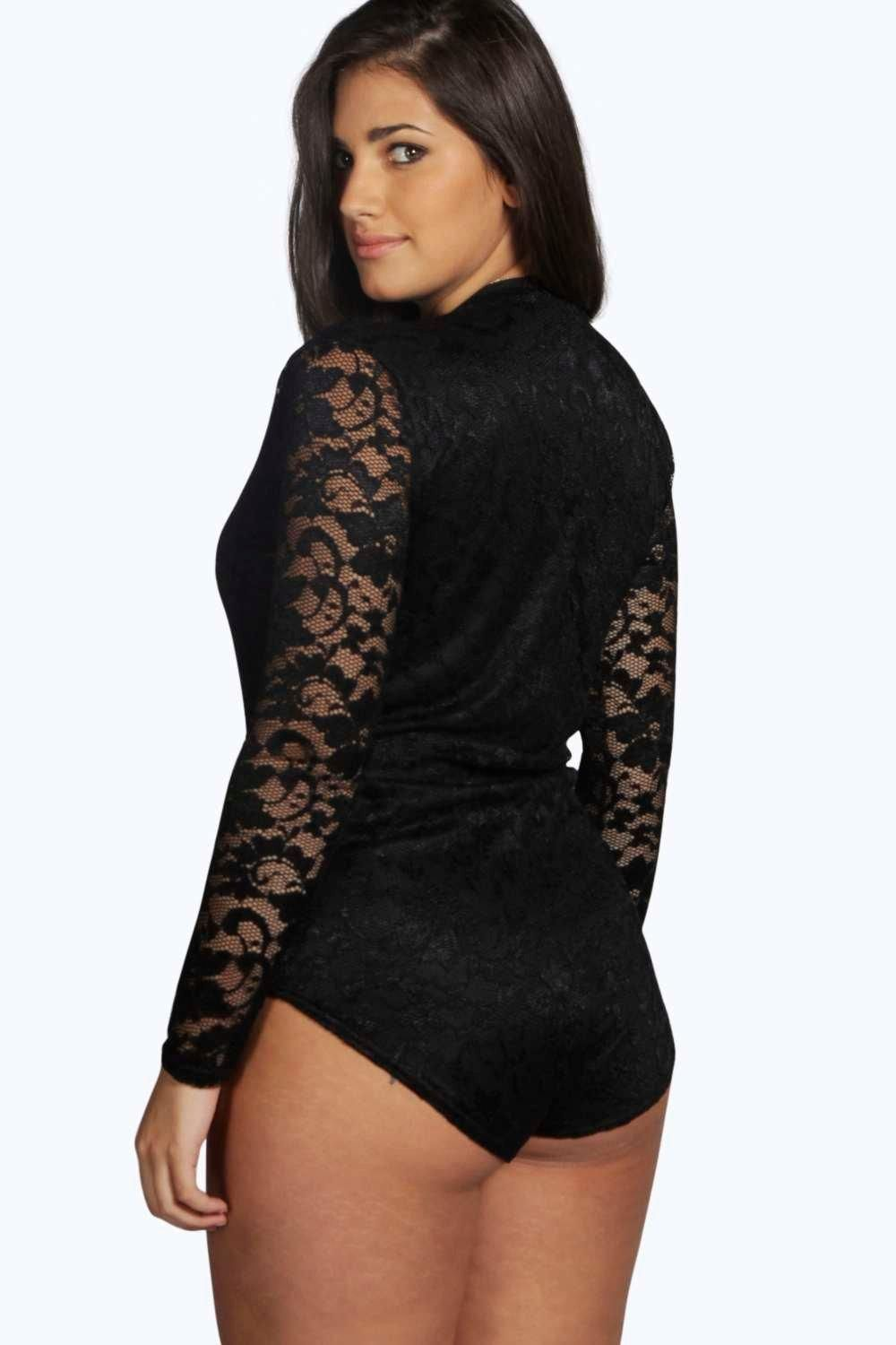 7dad908db boohoo.com plus size bodysuit ootd